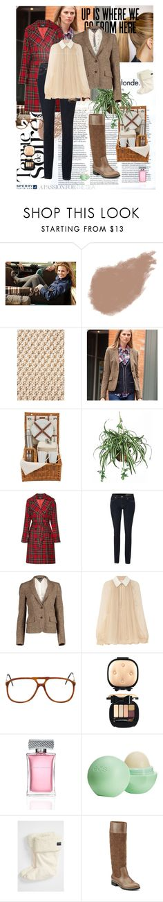 """""""Weekend Wear with Sperry Top-Sider"""" by cosmo-meow ❤ liked on Polyvore featuring Sperry, Dansk, Bobbi Brown Cosmetics, Topshop, Tommy Hilfiger, Naturally European, D&G, Chloé, American Apparel and MAC Cosmetics"""