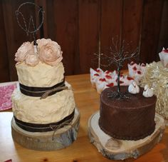 My wedding cakes.-made by my best friend, Tricia.