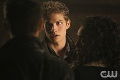 "The Originals -- ""The Devil is Damned"" -- Image Number: OR213a_0103.jpg -- Pictured (L-R): Joseph Morgan as Klaus (back to camera), Daniel Sharman as Kaleb and Maisie Richardson-Sellers as Rebekah -- Photo: Quantrell Colbert/The CW -- © 2015 The CW Network, LLC. All rights reserved.pn"