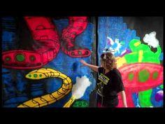 Painting ChromaDepth 3D Haunt Panels - YouTube