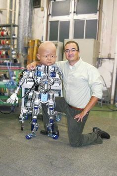 https://twitter.com/iron_light Diego-san is a new android infant designed at the University of California San Diego's Machine Perception Lab. The two companies that specialize in building lifelike animatronics and androids, Kokoro Co. Ltd. and Hanson Robotics, built a robot based on a one year old baby..#AllAboutTheFuture @iron_light