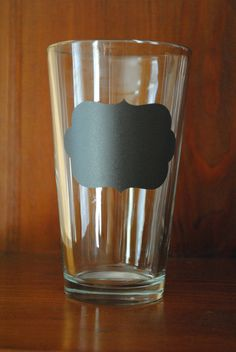 Chalkboard Vinyl Pint Glass - customize for any occasion!