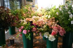 flowers cut ready to be tied for a fete champetre - all grown, cut and tied by @Georgie Cancikova Cancikova Newbery at www.commonfarmflowers.com