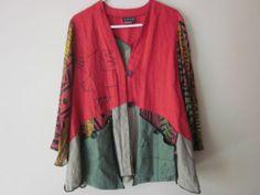 AHNI Multi Colored Blazer / Top ~ front