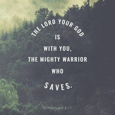 The Lord thy God in the midst of thee is mighty; he will save, he will rejoice over thee with joy; he will rest in his love, he will joy over thee with singing. Zephaniah 3:17 KJV http://bible.com/1/zep.3.17.KJV
