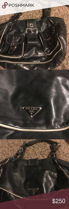 Prada authentic vintage soft calf handbag Authentic Prada Vintage Soft Calf Handbag Black Prada Bags Totes