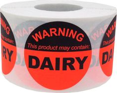 This Product May Contain Dairy  Allergy Warning by TheDotSpotLane