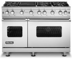 "VGCC548-6GSS Viking 48"" Custom Sealed Burner Pro Style Range with 6 Burners & Griddle  - Stainless Steel.  Great for a real chef kitchen.  Lots and lots of room in this baby."