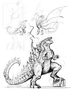 Godzilla Sketch by brianboyster