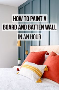 Painting a board and batten wall doesn't need to be time consuming! See the trick that helps you paint the wall in an hour - with uniform coverage! Home Design, Design Blog, Design Design, Young House Love, Batton And Board, Bedroom Wall, Bedroom Decor, Quirky Bedroom, Bedroom Ideas
