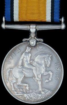 The First World War British War Medal 1914 - 1918 - 1920 WWI
