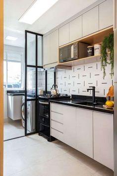 Kitchen Decor, Interior Design Kitchen, Modern Kitchen Apartment, Home Decor Kitchen, Kitchen Furniture Design, Home Room Design, Kitchen Modular, House Design Kitchen, Home Decor