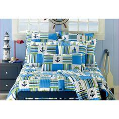 Anchor Blue 3-piece Quilt Set   Overstock.com