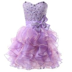 2016 New Arrival Hot Sale Beaded Purple Short dresses Homecoming Robe De Bal Courte Sweetheart  Prom Dresses Party Ball Gown