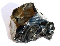Obsidienne Noire cristal naturel brut 858 g