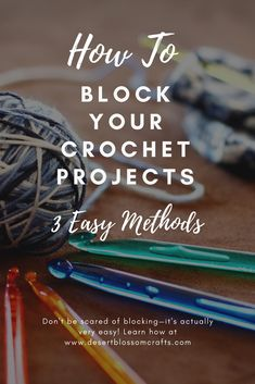 Learn 3 easy methods to block your crochet projects! Blocking is not as scary as it seems, I promise. Believe it or not, I actually enjoy it! #crochet #crochettutorial #crocheting #freecrochetpattern #howto #howtos #howtoblock #learnhowtoblock #freecrochetpatterns #crochetlove #crochetaddict #knitting #blocking #block #getmycrochettolayflat
