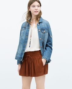 Image 2 of SHORTS WITH CUT OUT DESIGN from Zara