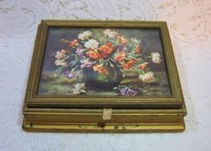 Floral Lift Top Vanity Box ~ $19.00