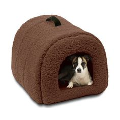 Igloo Pet Bed in Brown