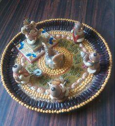 Ganpati Decoration Ideas - Aarti ki Thali for Ganpati