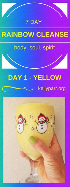 Today's Rainbow Cleanse color is YELLOW! Yellow symbolizes… joy, sunshine, and happiness! To get your day started with joy, sunshine & happiness come over and choose your level of cleanse first!  #cleanse, #challenge, #rainbow, #detox, #eatclean, #cleaneating, #7day