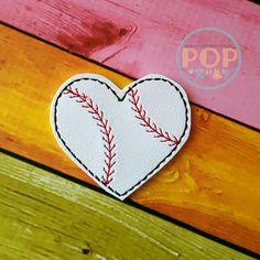 Digital Download - Baseball Heart Feltie Design