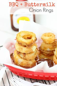 Crunchy, crispy, and barbecue-y! These BBQ and Buttermilk Onion Rings ...
