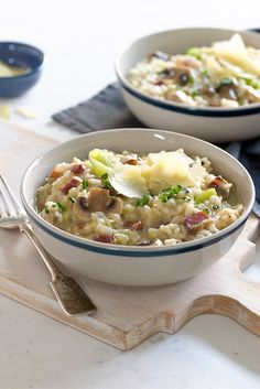This pancetta and leek risotto recipe is a delicious way to get cooking with leeks
