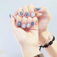 Smart Nails, Korean Nail Art, Nails Now, Plain Nails, Minimalist Nails, Feet Nails, Neutral Nails, Cute Nail Art, Stylish Nails