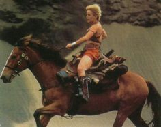 Amazon Queen Gabrielle rides well! From Xena.