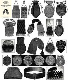 Retro Rack: Time Traveler ~ Reticules & Victorian Accessories civil war era