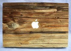 Natural wood Macbook decal
