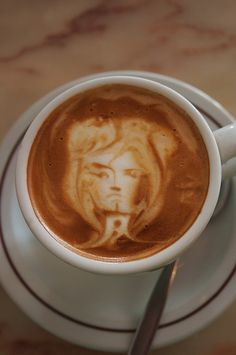 A face in a coffee