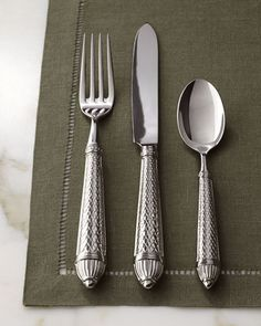 "20-Piece ""Raffaello"" Flatware Service by Ricci Silversmiths at Horchow."