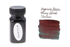 55ml plastic bottle of Organics Studio Henry David Thoreau, also known as Walden Pond. This color is a deep turquoise blue with a red sheen.<br><br>