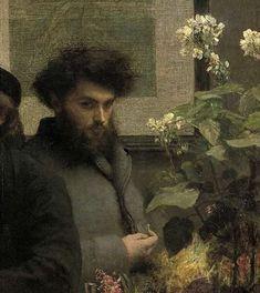 "By Henri Fantin-Latour ""The Corner of the Table"" (detail) 1872"