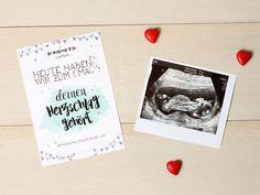 Erste Mutterkindpass Untersuchung - Glücksklee und Sonnenschein Polaroid Film, Cover, Ultrasound, Sunshine, Pregnancy, Kids