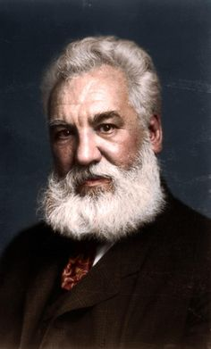 Alexander Graham Bell Was Scottish Born American Scientist And Engineer Who Invented The First Practical Telephone. British Inventors, The Inventors, Alexander Graham Bell, Colorized Photos, Great Beards, Iconic Photos, Black N White Images, Classic Image, Science