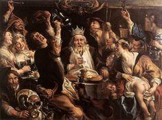Jacob Jordaens - The King Drinks.