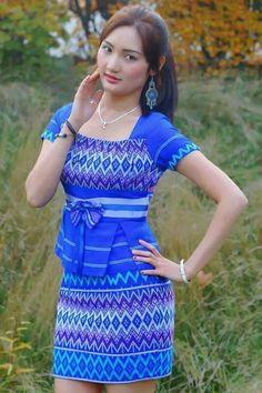 Karen Dress Myanmar Tine Yin Thar Gown Pinterest