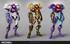 Metroid Suit Variants