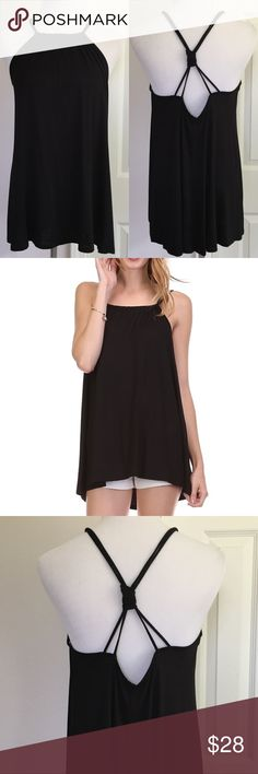 Double Strap Tank Super soft, lightweight material. 96% Rayon 4% Spandex  Boutique item.  Made in USA.  Price is firm. Tops Tank Tops