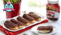 Ev yapımı enfes bir ekler ve üzerinde Nutella süslemesiyle bu tarifi çok seveceksiniz.. Vanilyalı pasta kreması ile Nutella uyumu gerçekten nefis bir tat oluşturuyor.. Ekler [...]