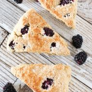 gluten free vegan blackberry scones