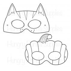 free halloween printable coloring masks free cat mask free pumpkin mask printable masks