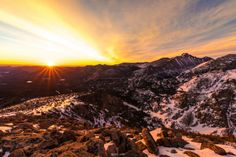 Sunrise from 12,000ft in Rocky Mountain National Park