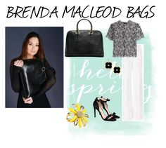 """""""BRENDA MACLEOD BAGS"""" by tammydevoll ❤ liked on Polyvore featuring Diane Von Furstenberg, self-portrait, STELLA McCARTNEY, Asha by ADM and Kate Spade"""