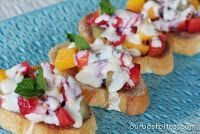 Fresh Fruit Bruschetta with Orange-Honey Cream | Our Best Bites