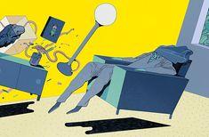 Danish illustrator Rune Fisker's clean, windswept surrealism