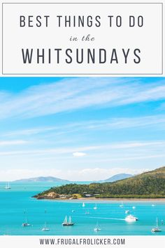 What to do in the Whitsundays besides a Whitsundays sailing trip: restaurants and cafes in Airlie Beach Queensland beaches Whitsunday day trips and more. Brisbane, Sydney, Australia Tourism, Visit Australia, Australia Holidays, Cairns Australia, Coast Australia, South Australia, Western Australia